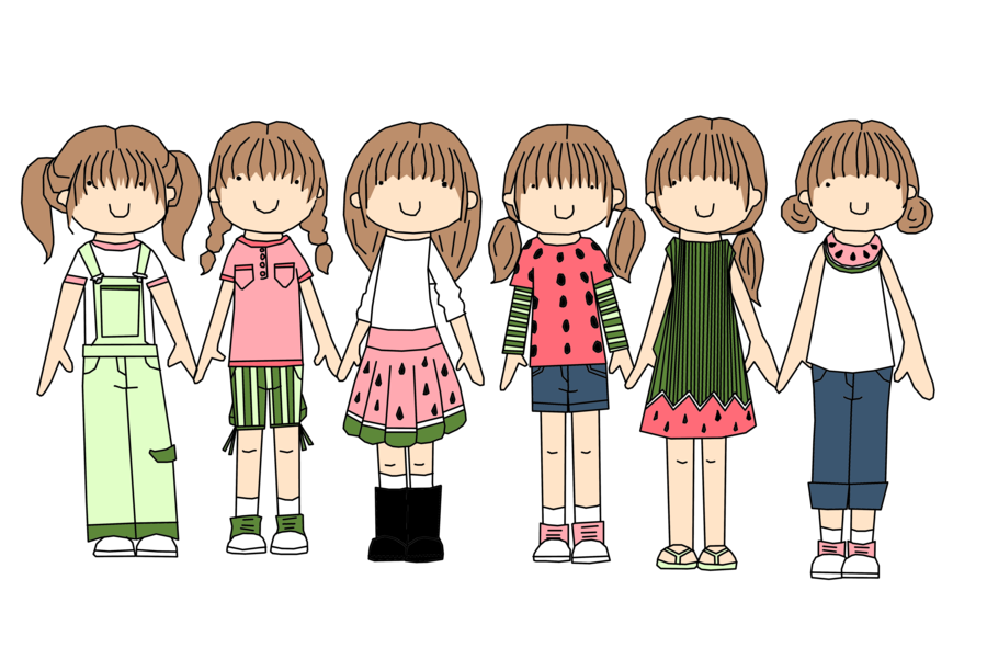 Watermelon kids fashion by. Clothing clipart clothes design