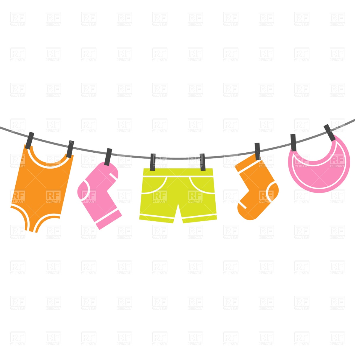 Clothing clipart clothing line. Free images of download