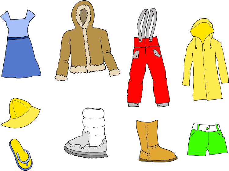 Clothing clipart clothing line. Assortment medium image png
