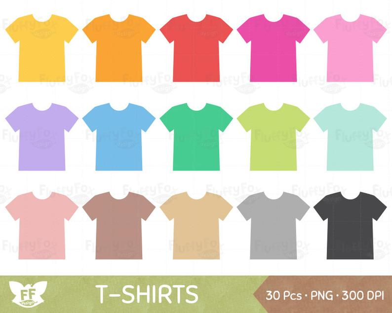 Clothing clipart colorful clothes. T shirt shirts clip