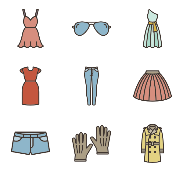 Clothing clipart colorful clothes.  icon packs vector
