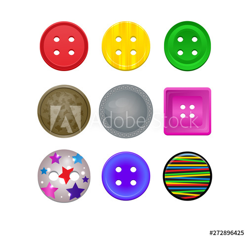 Clothing clipart colorful clothes. Sewing button vector kids