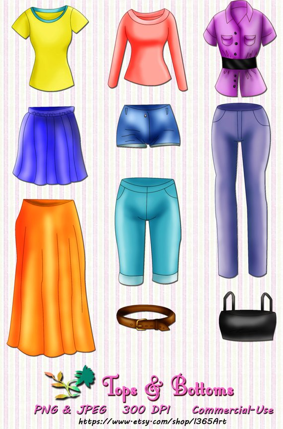 Clip art shirt pants. Clothing clipart cool clothes