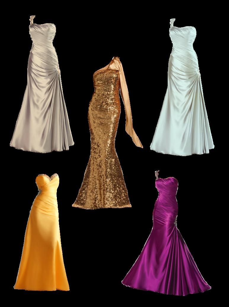 Long dresses by lyotta. Night clipart evening