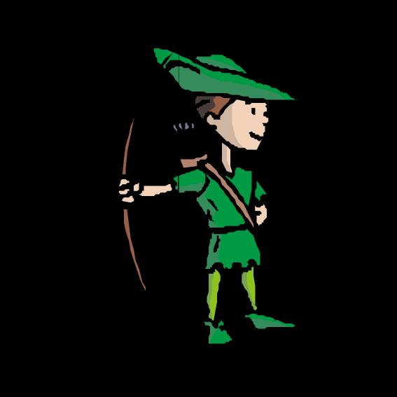 Clothing clipart green clothes. Robin hood little john