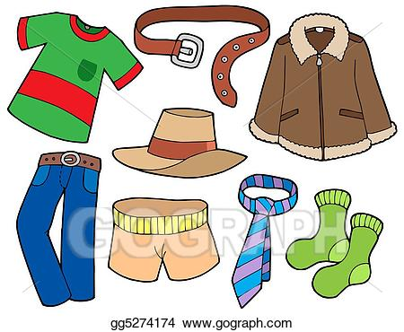 Clothing clipart man clothes. Stock illustration collection clip
