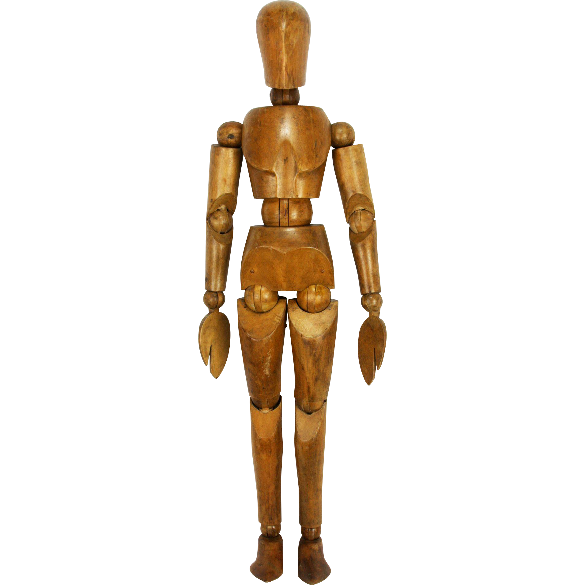 Clothing clipart mannequin. Vintage large rare wood