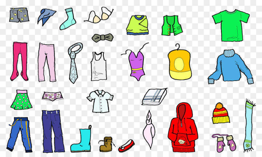 Winter children s png. Clothing clipart many clothes