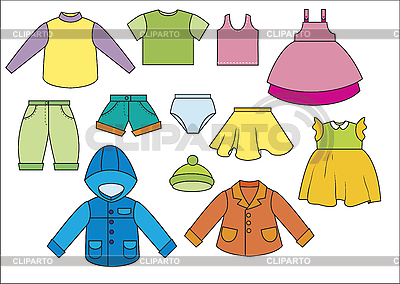 Clothing clipart many clothes. Stock photos and vektor