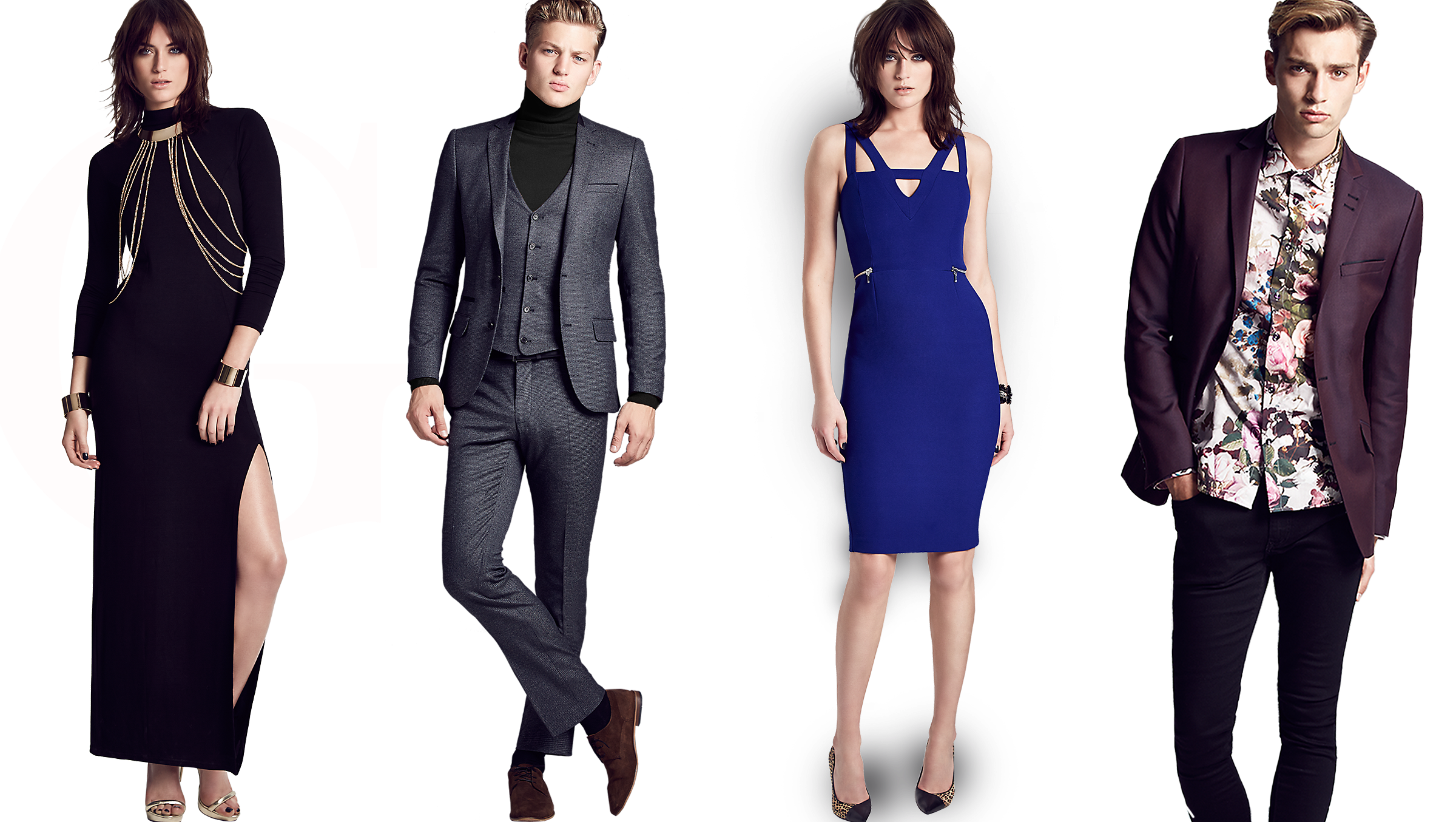 Women dress as wonderful. Fashion clipart man woman
