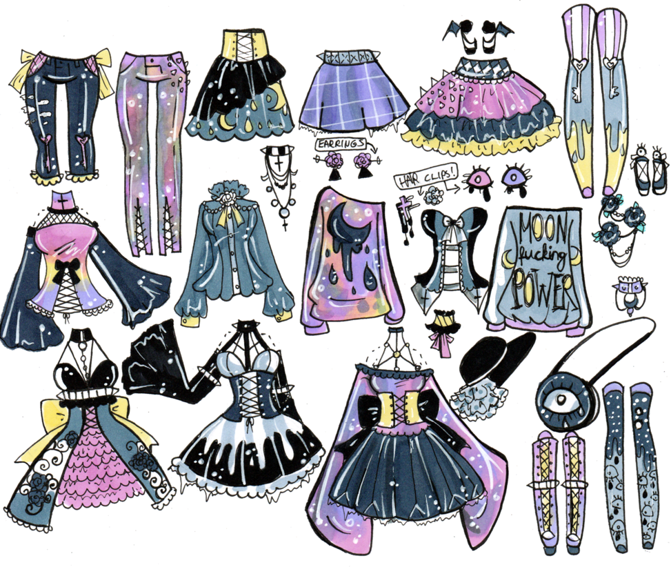 Clothing clipart mix match clothes. Moonfckingpower closed and by