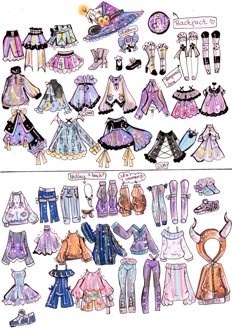 Clothing clipart mix match clothes. Custom and outfits by
