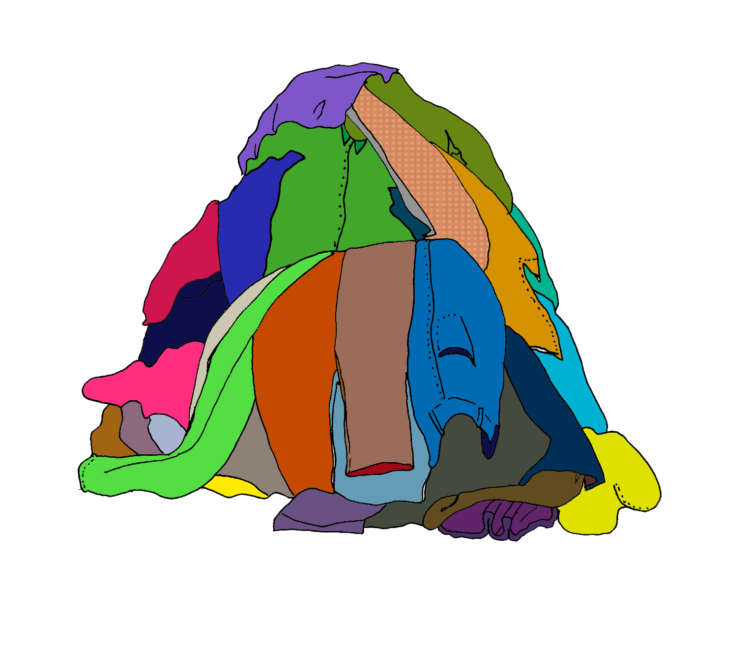 Clothing clipart pile clothes. Of free download best