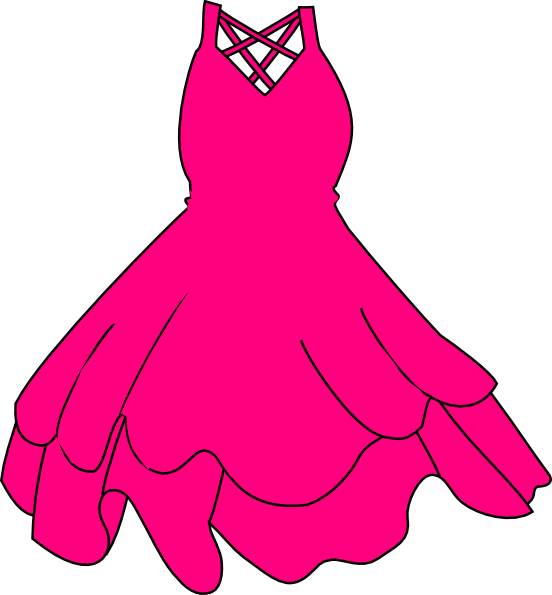 Clip art at clker. Clothing clipart pink dress