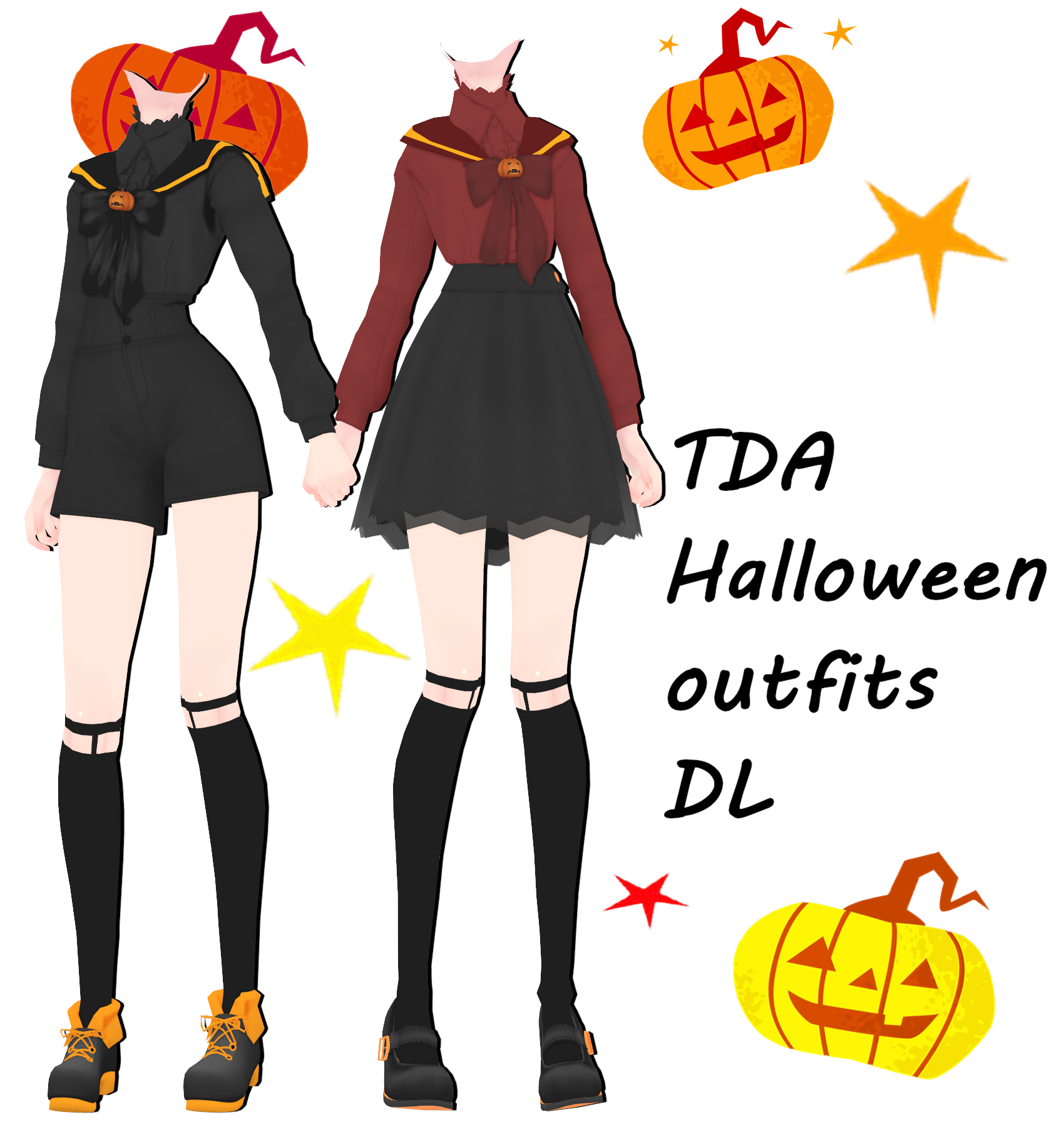 Clothing clipart spare clothes. Mmd dl halloween outfits