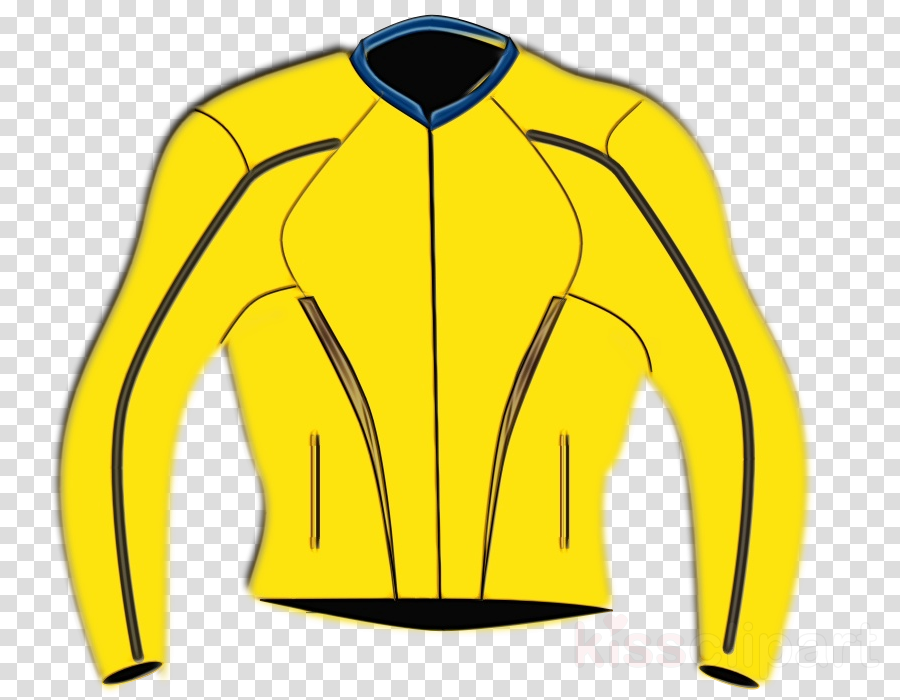 Clothing clipart yellow jacket. Sportswear sleeve