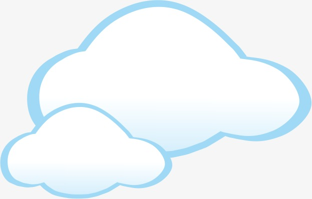 Cloud clipart. White png image and
