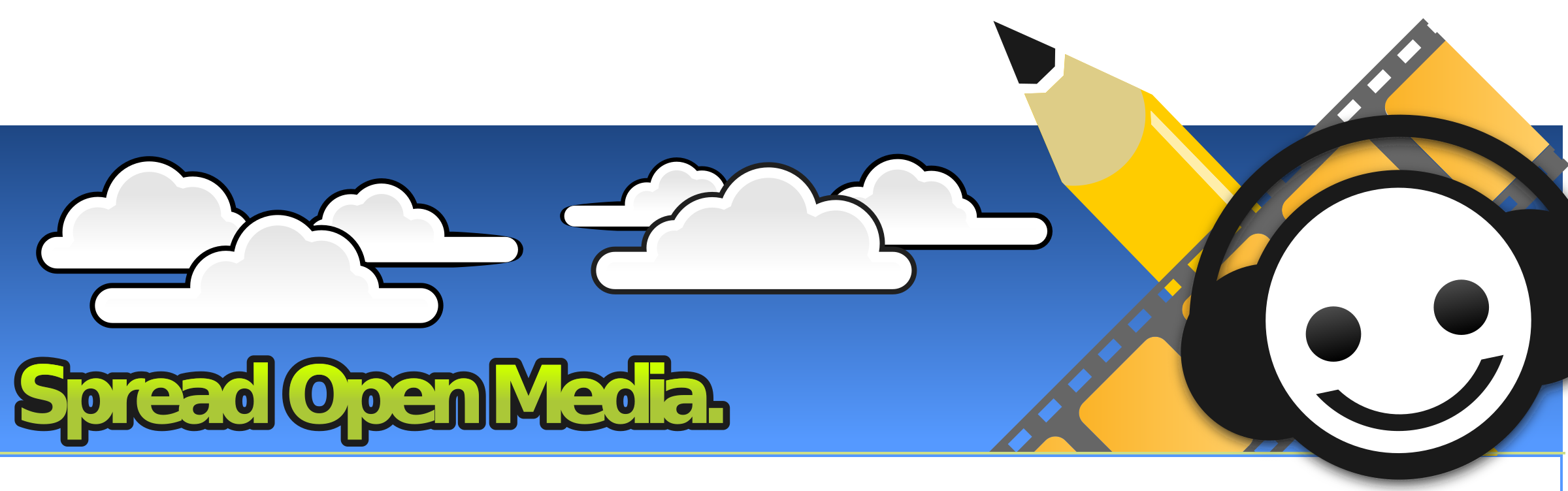 Som and sky big. Clouds clipart banner