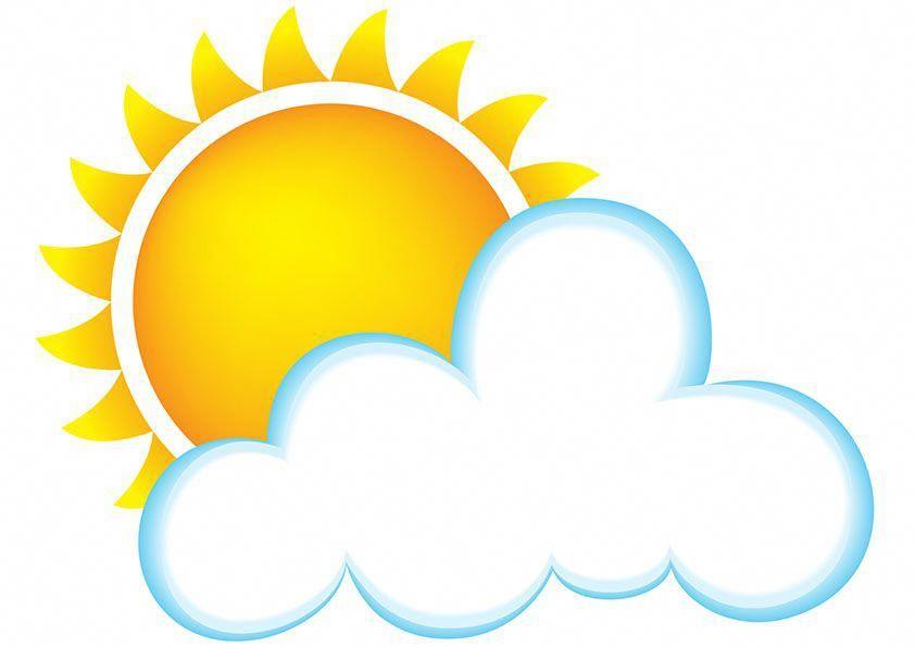 Cloud clipart beach. Sun and cartoon best