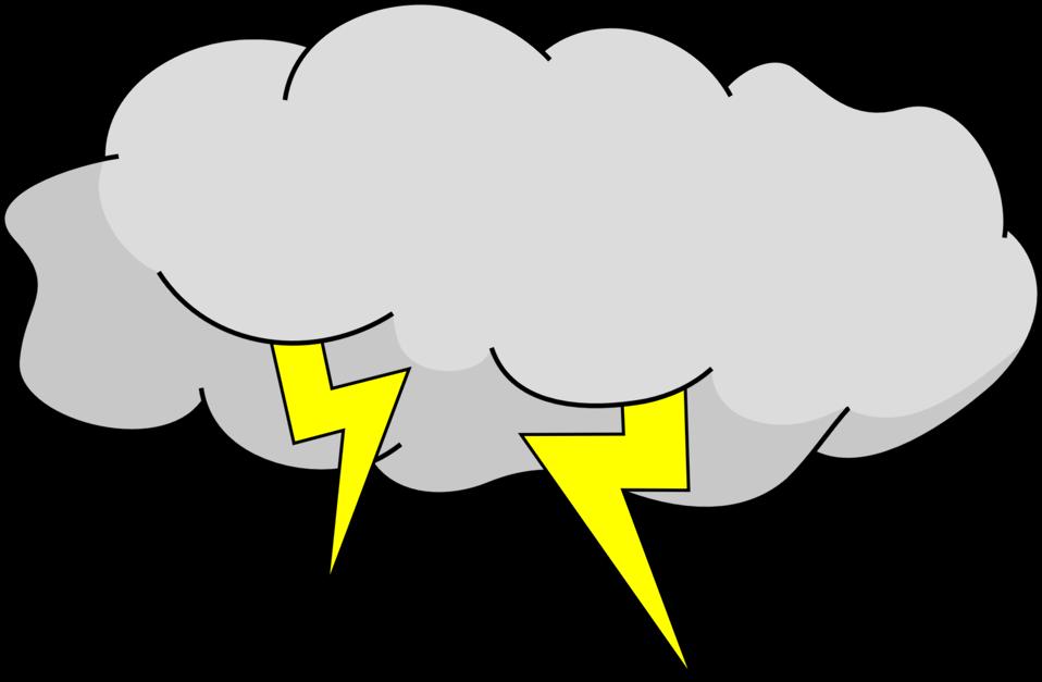 Cartoon storm cloud shop. Thunderstorm clipart transparent