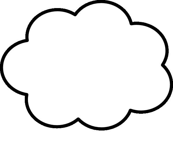 Clip art at clker. Cloud clipart cloud shape