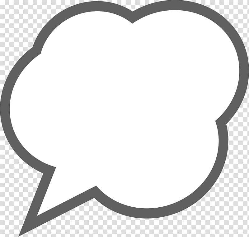 Gray framed white bubble. Cloud clipart conversation