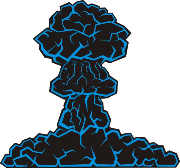 Mushroom cloud clip art. Explosion clipart war