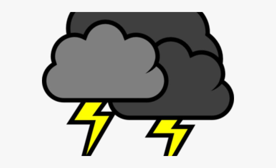 Dark cloud . Lightning clipart thunderstorm