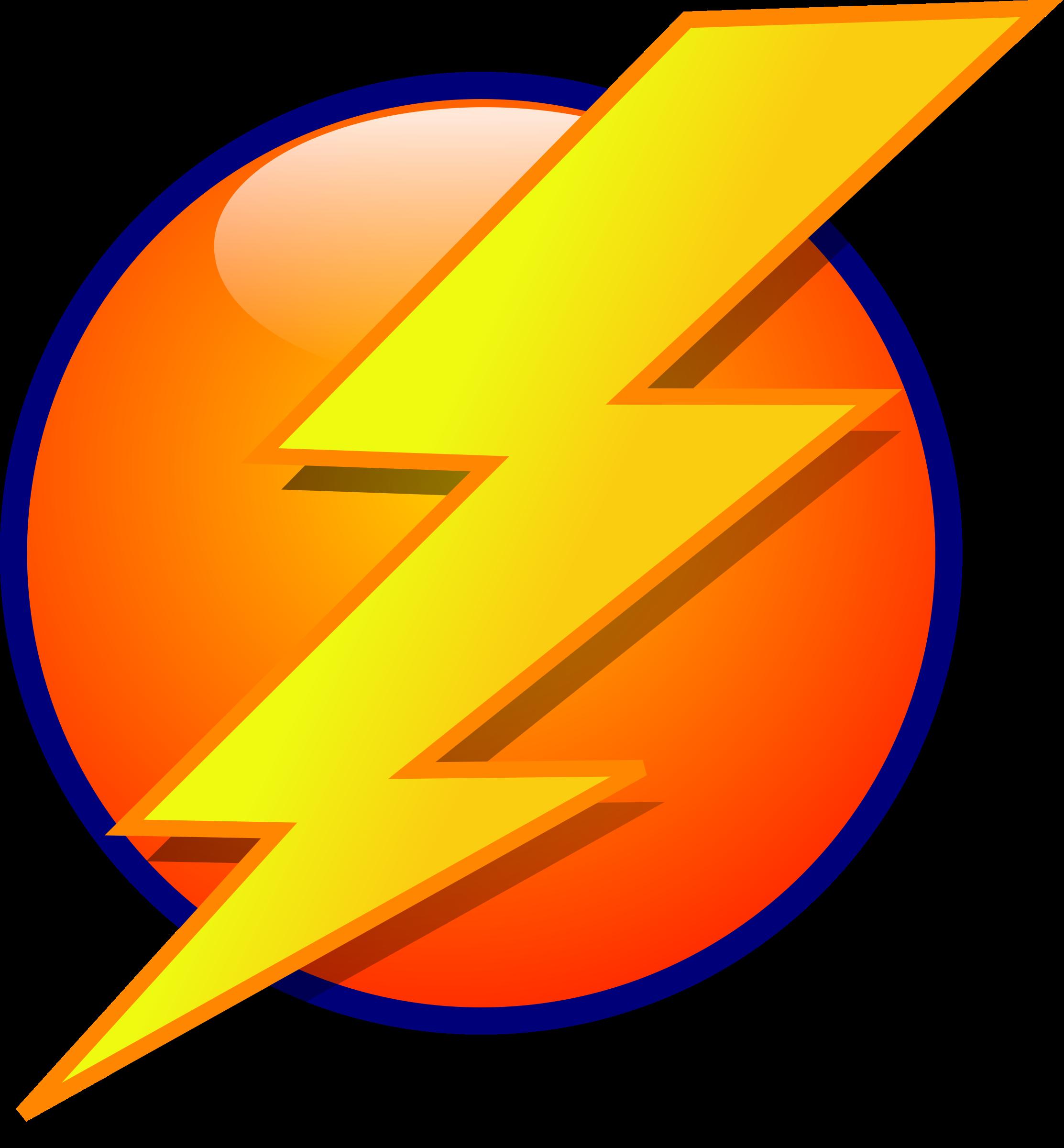 Icon. Lightning clipart clip art
