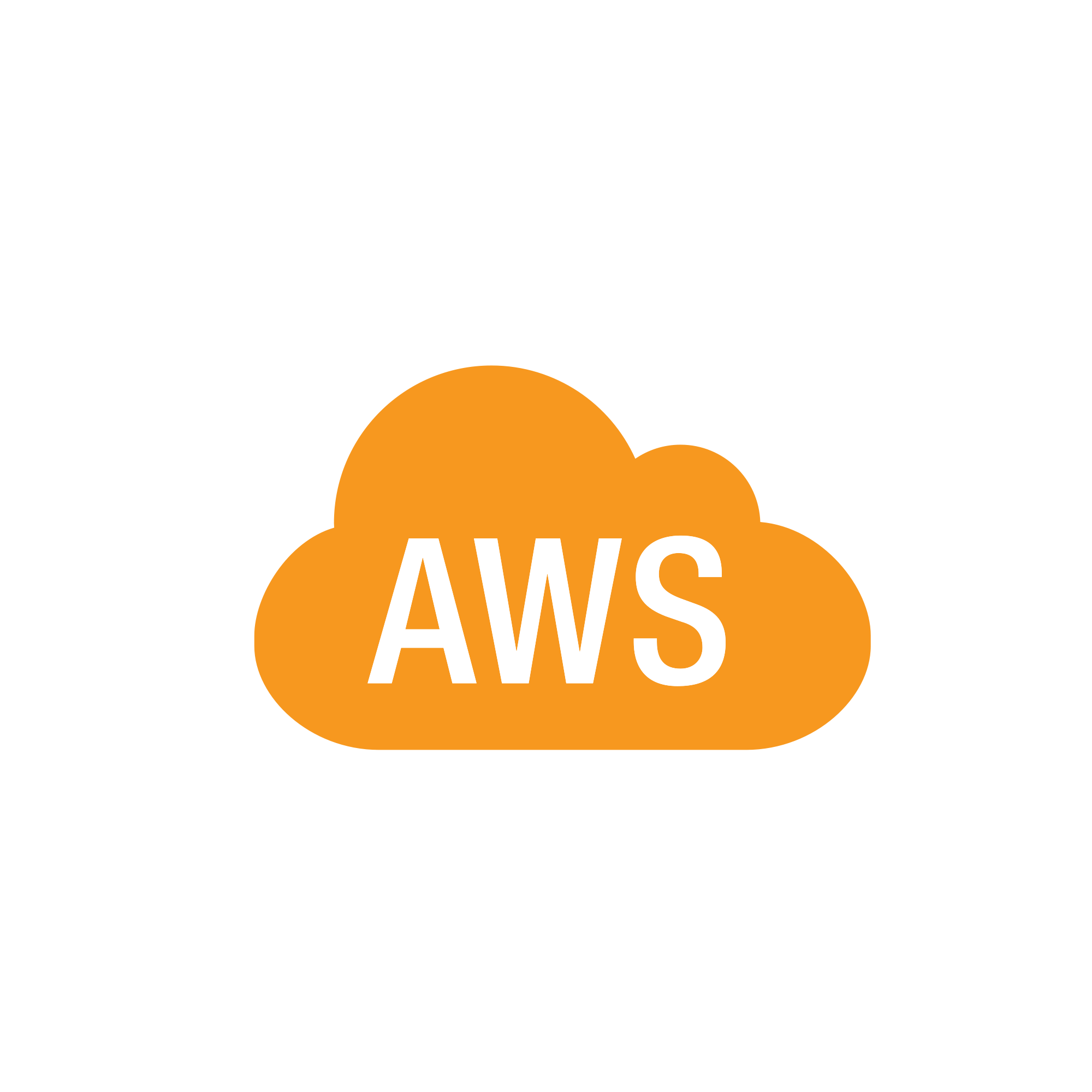File aws simple icons. Orange clipart clouds