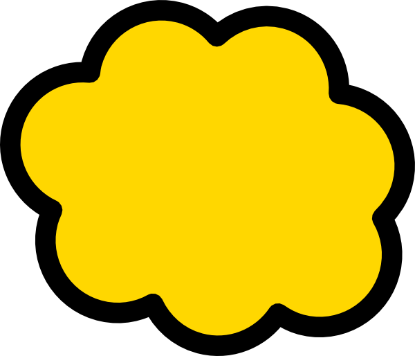 Orange clipart clouds. Yellow cloud clip art