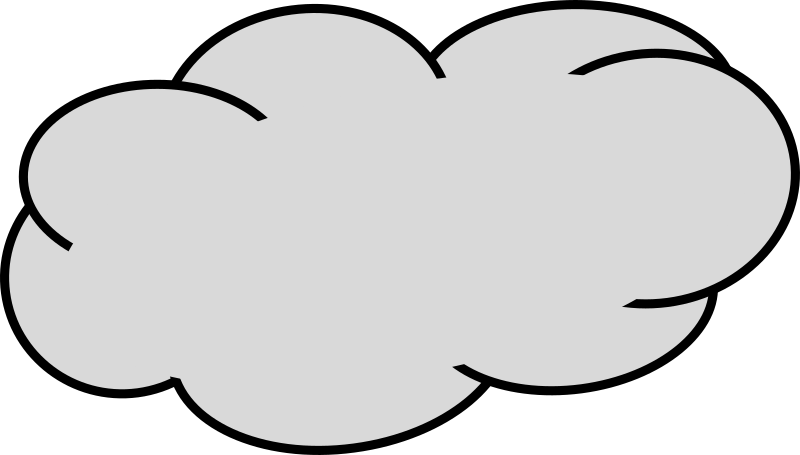 Cloud medium image png. Clouds clipart grey