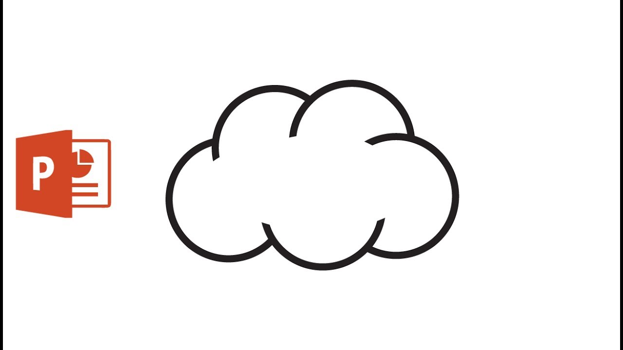 Clouds clipart powerpoint. Draw a cloud icon