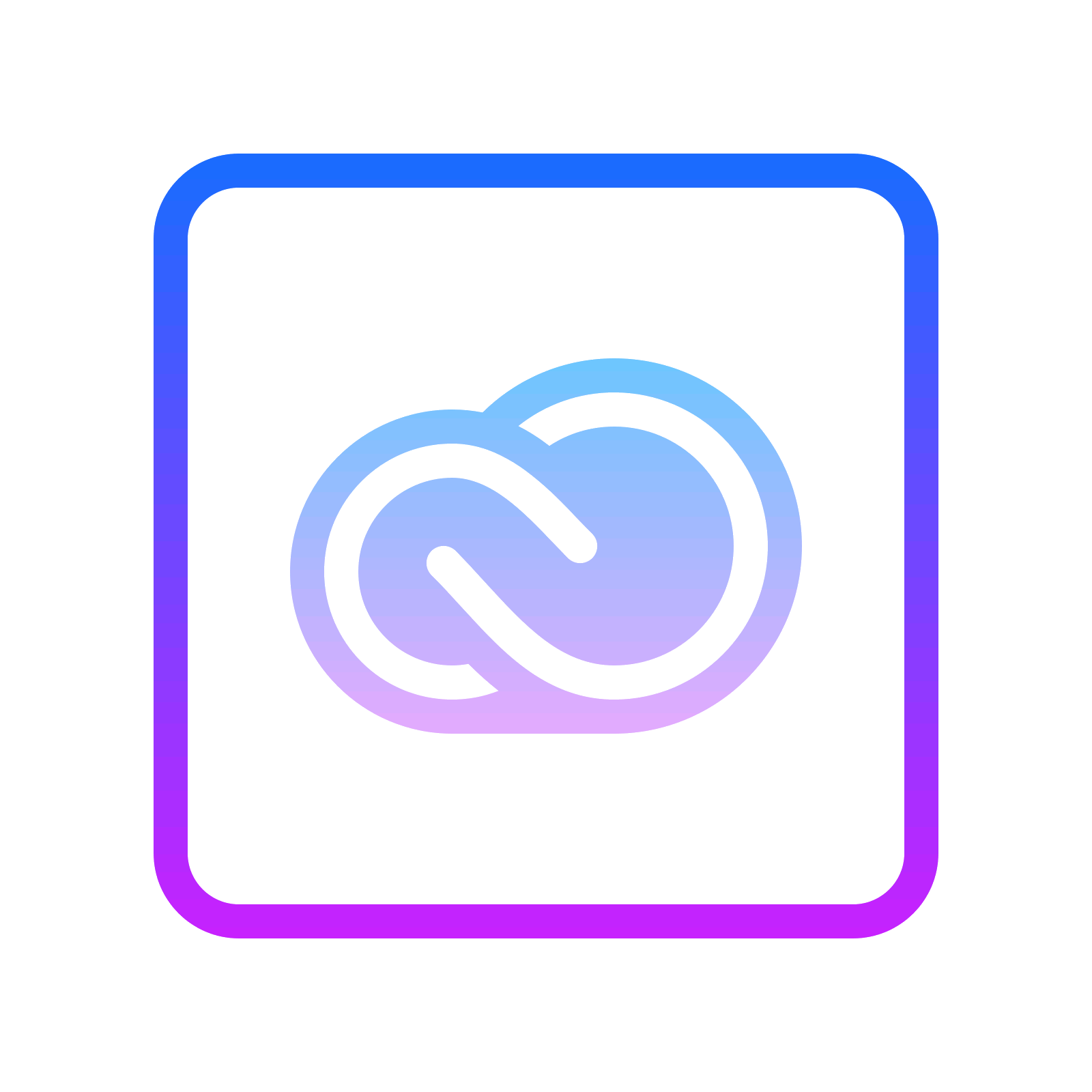 Adobe creative icon free. Cloud clipart rectangle