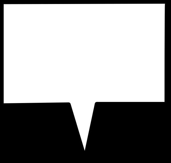 Callout center clip art. Cloud clipart rectangle