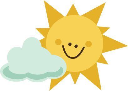 Cloud clipart summer. Scrapbooking svg sun with