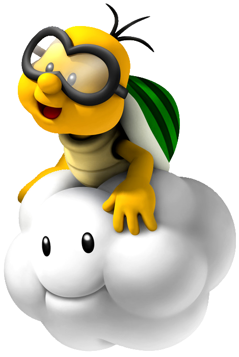 Lakitu pinterest. Cloud clipart super mario