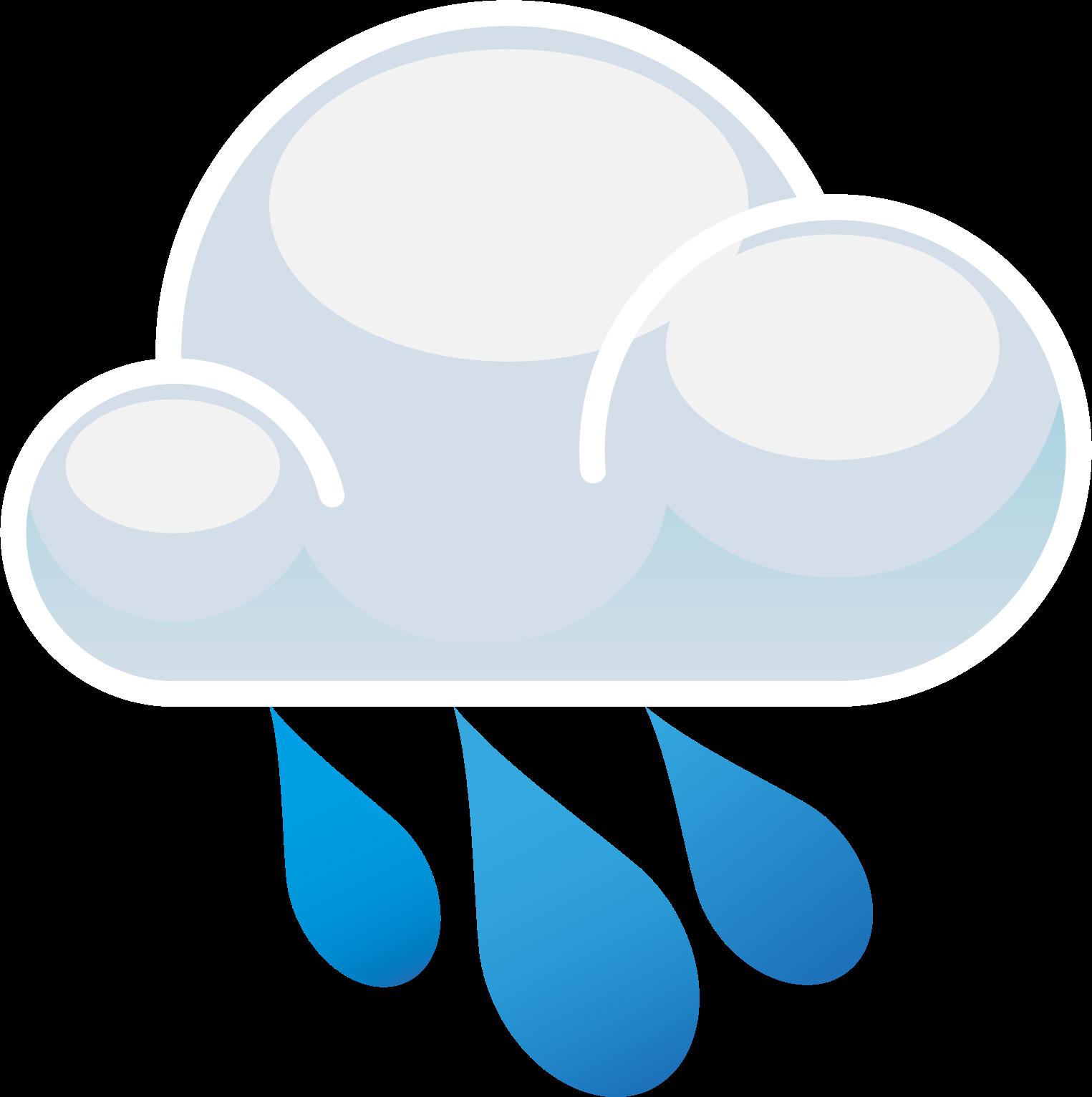 Cloud clipart vector. Rain showers free download