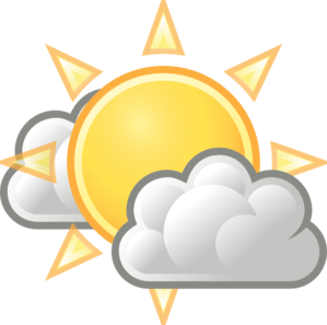 Clouds clipart weather. Few clip art at