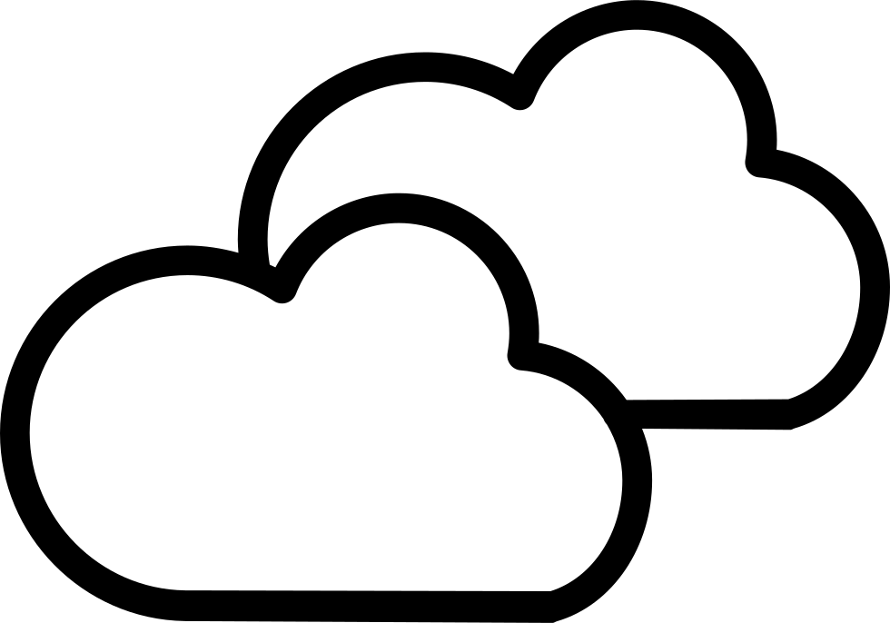 Weather symbol outline of. Cloudy clipart cluds