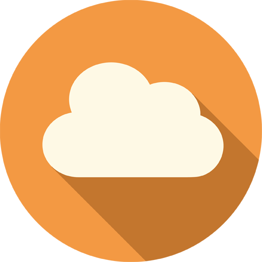 Cloud icon png. Long shadow media iconset