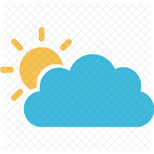 Cloud icon png. Sun behind weather seasons
