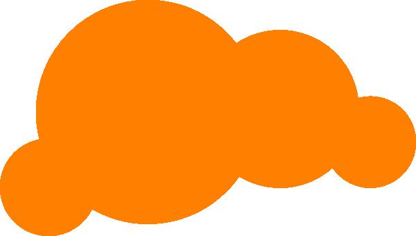 Cloud vector png. Orange clip art at