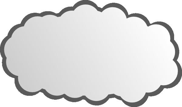Simple clip art at. Cloud vector png