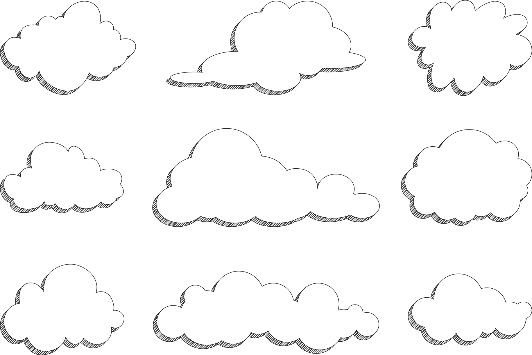 Cloud vector png. Clouds transprent free download