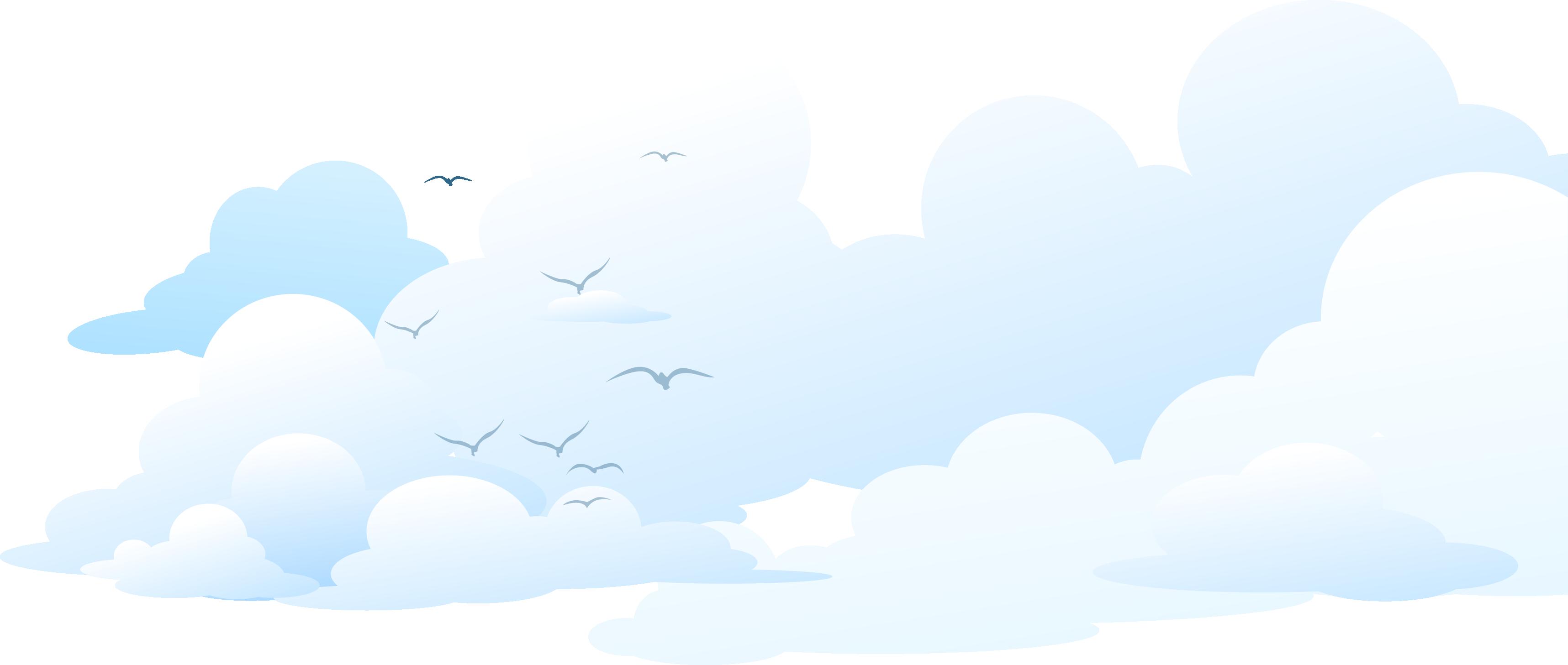 Brand sky blue seagull. Clouds clipart cumulus cloud