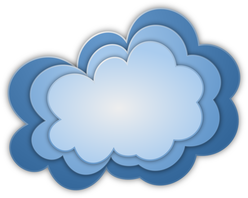 New free cloud images. Clouds clipart cute
