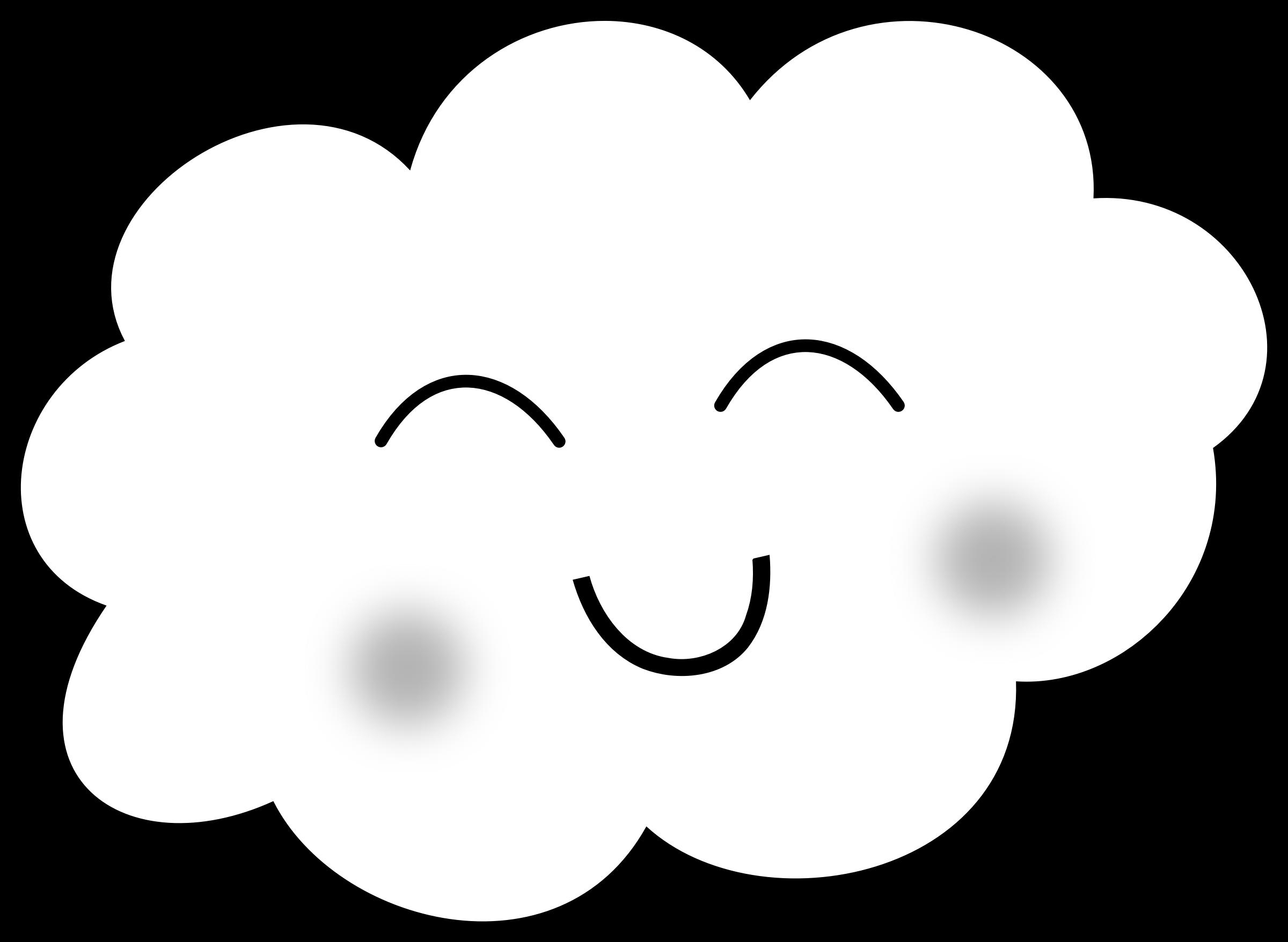 Clouds clipart dream. Happy cloud coloring book