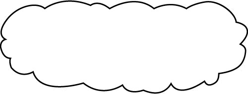 Cloud border flaky image. Clouds clipart frame