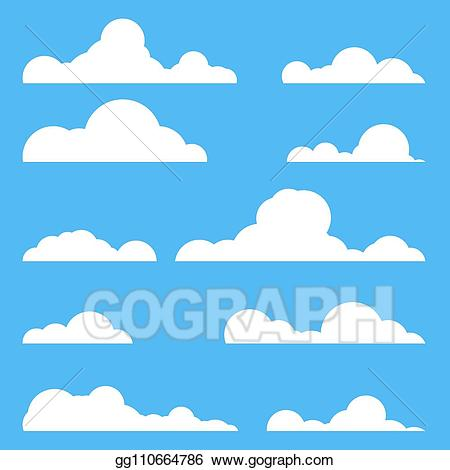 Vector stock set of. Clouds clipart illustration